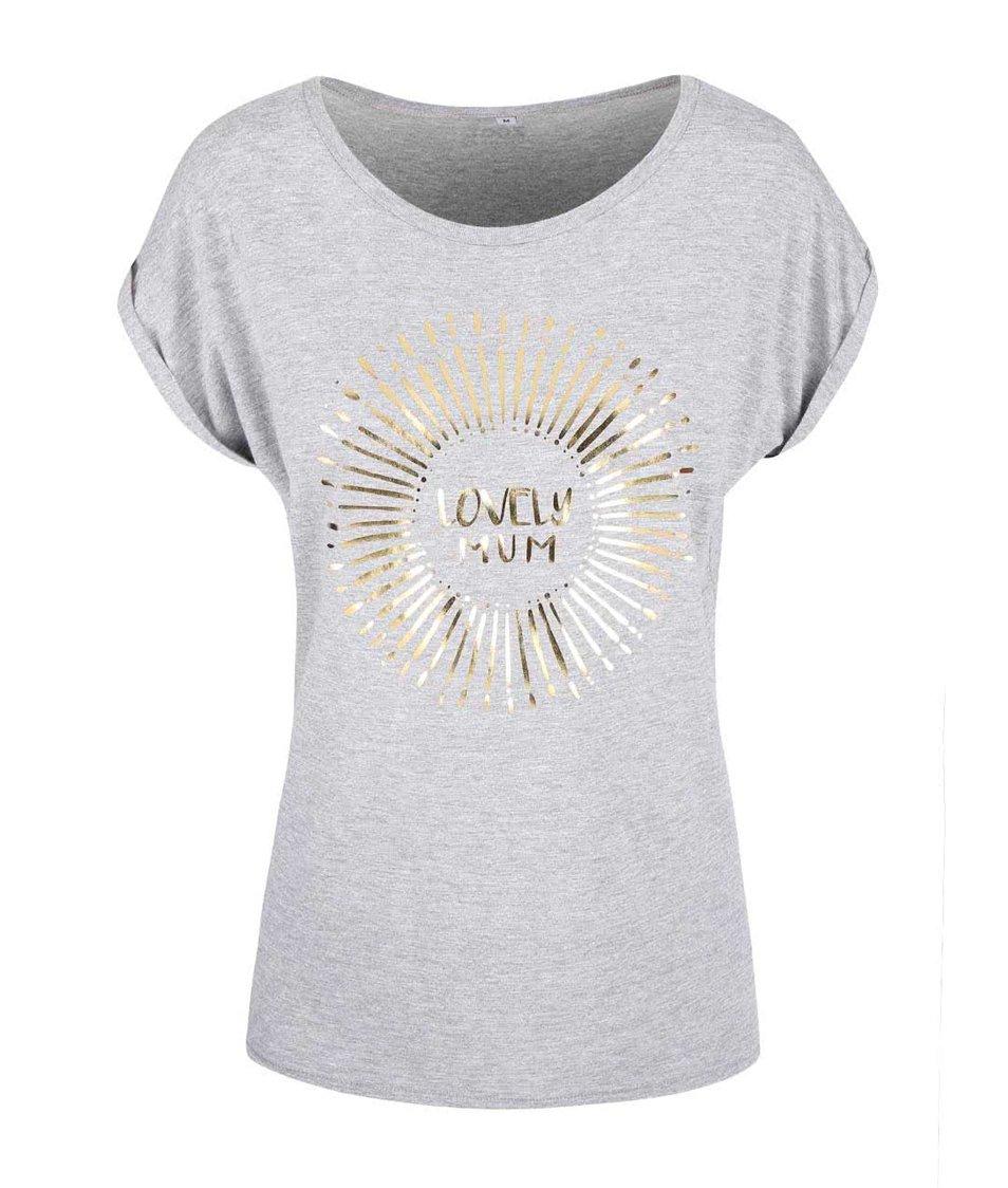 Šedé dámské tričko ZOOT Originál Lovely Mum