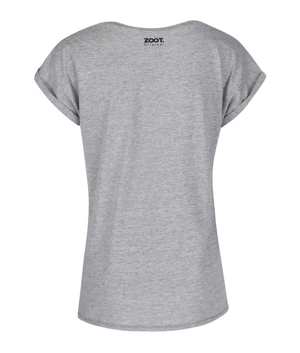 Šedé dámské tričko ZOOT Originál Not a Girly Girl