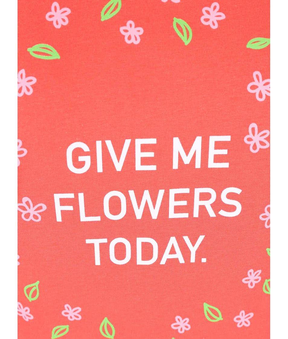Korálové dámské tričko ZOOT Originál Flowers