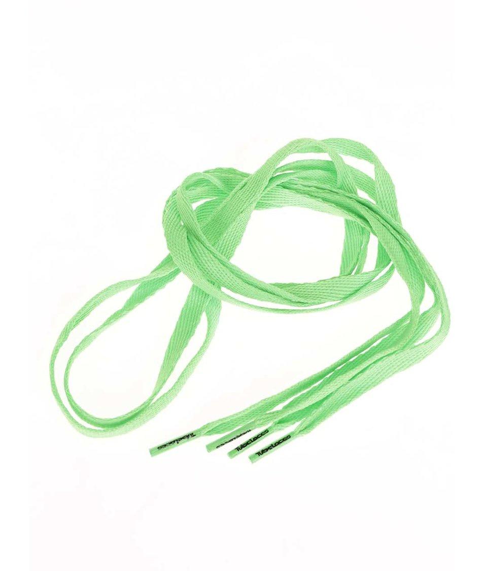 Neonově zelené tkaničky Tubelaces (120 cm)