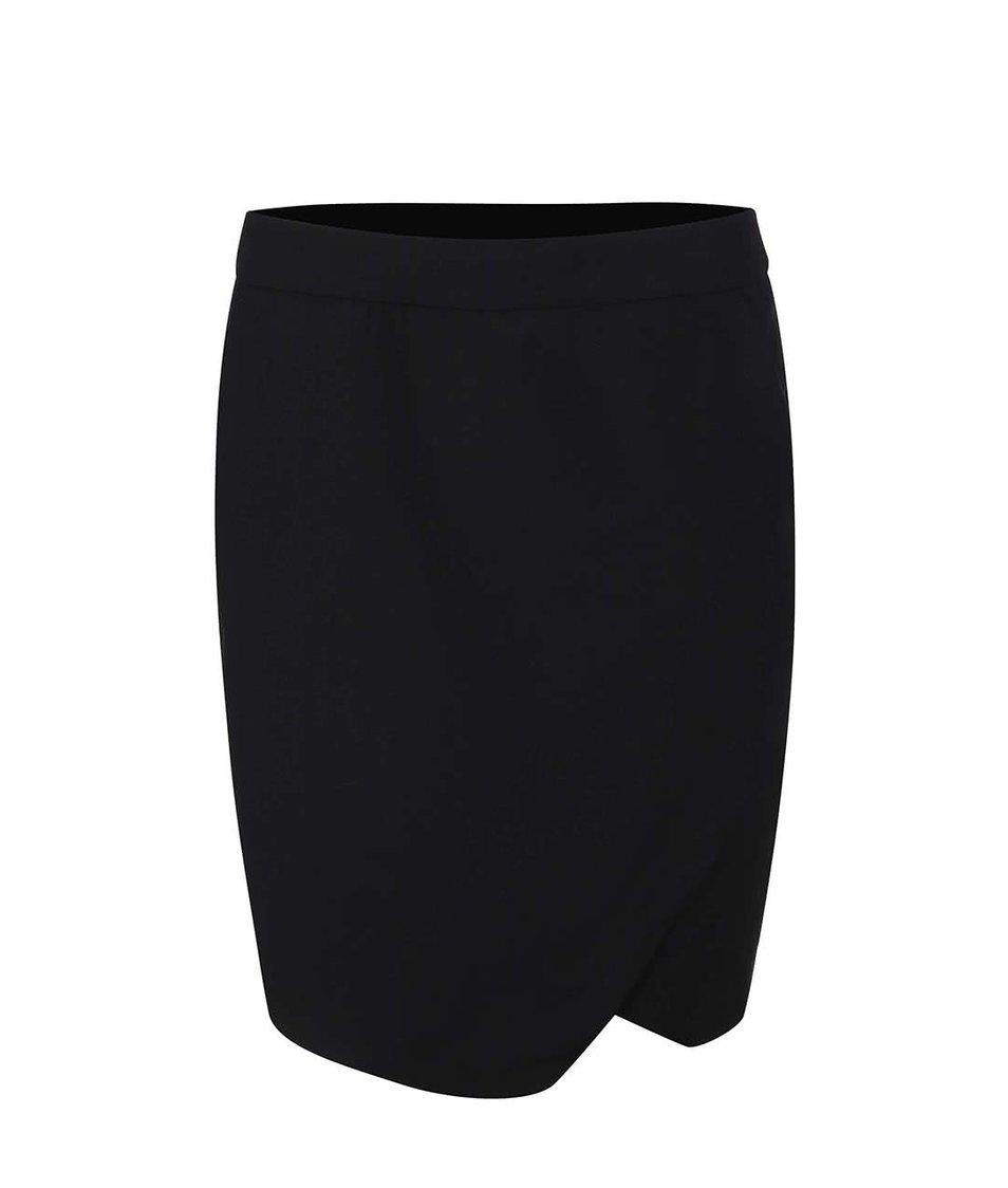 Černá pouzdrová sukně s rozparkem Vero Moda Roro