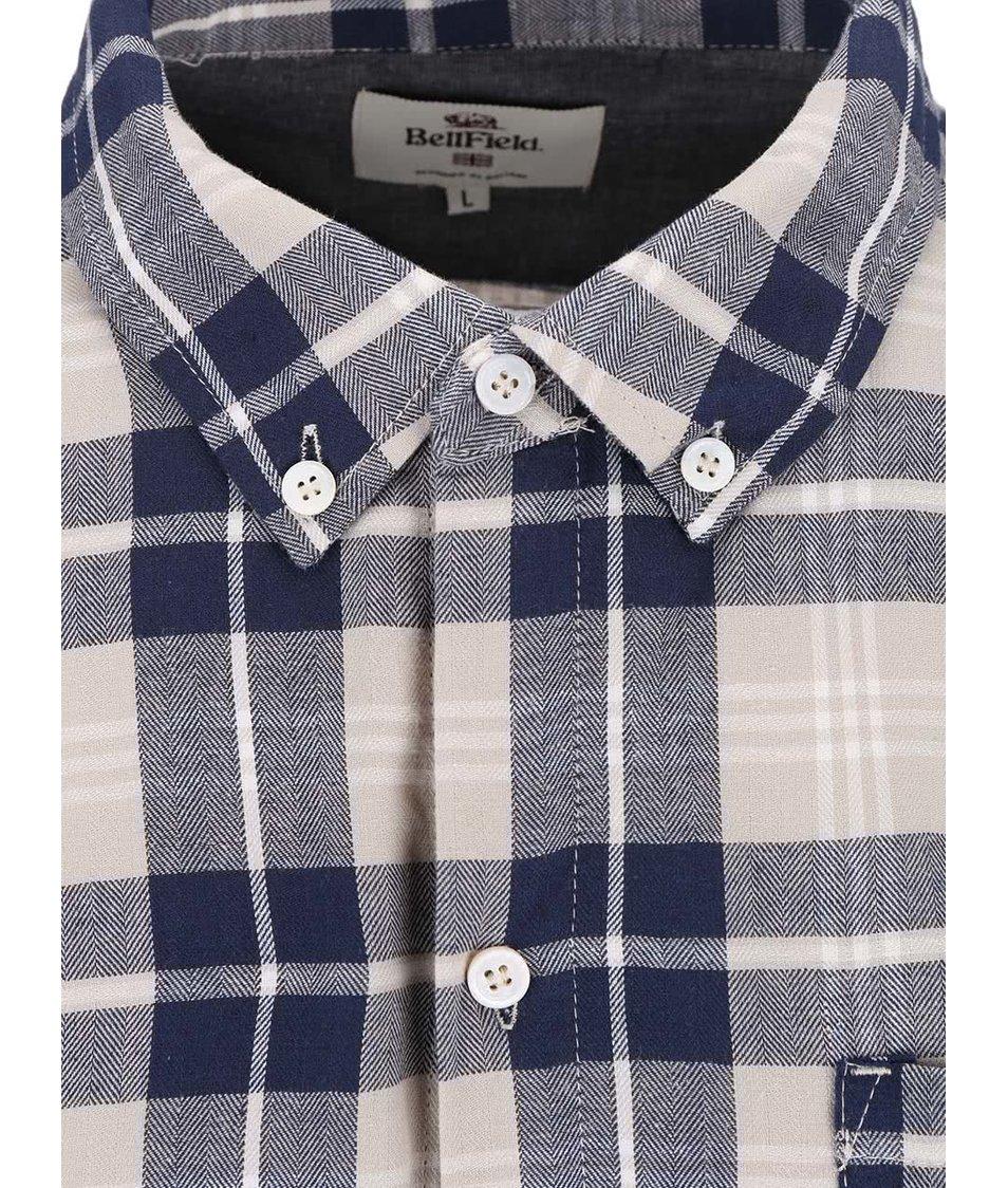 Béžovo-modrá kostkovaná košile Bellfield Barrow