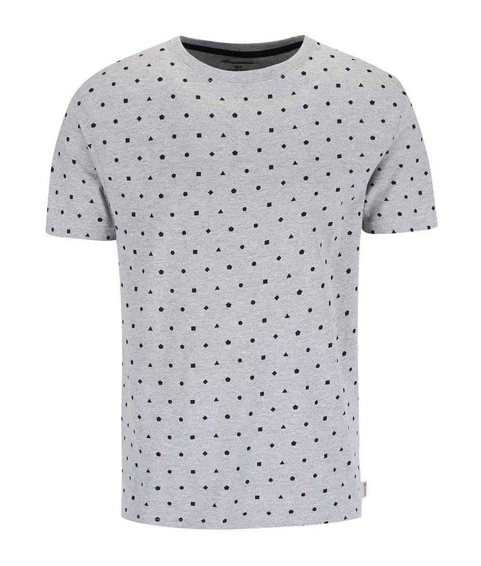 Šedé triko s geometrickými vzory Bellfield Calcott
