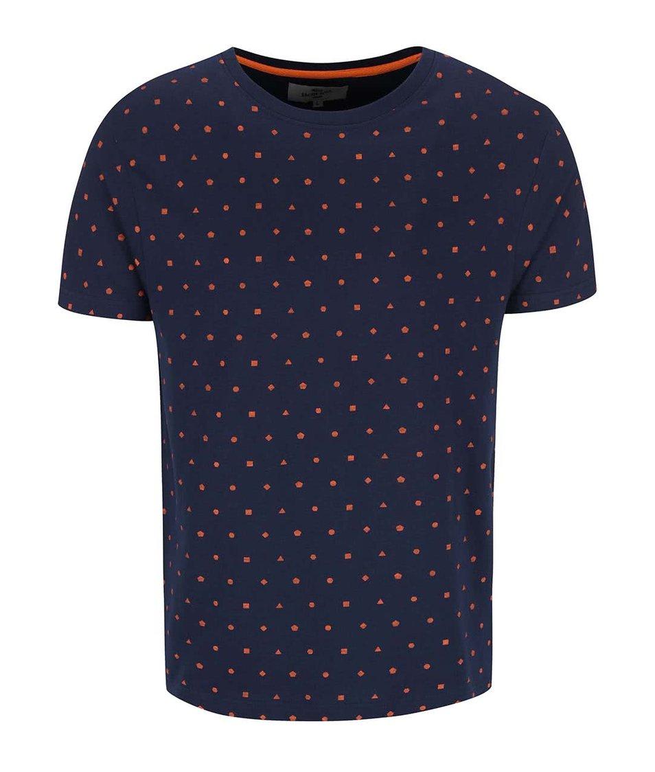 Tmavě modré triko s geometrickými vzory Bellfield Calcott