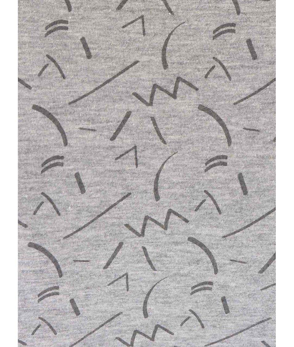 Šedé vzorované triko Bellfield Cosmos