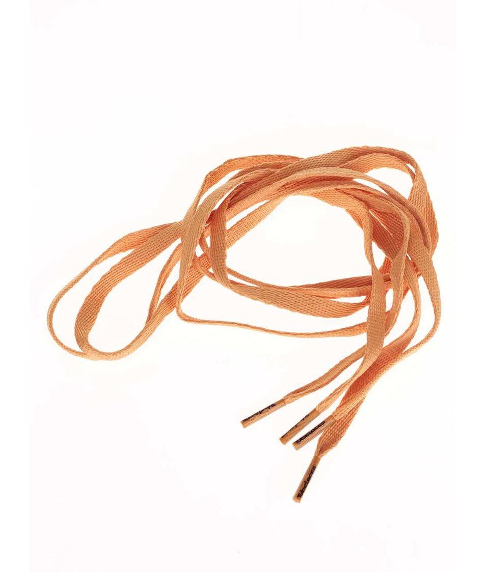 Světle oranžové tkaničky Tubelaces (120 cm)