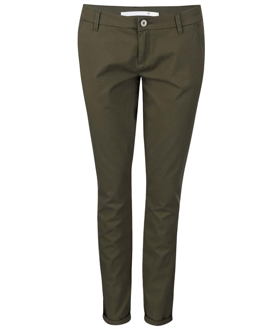 Zelené chino kalhoty ONLY Paris