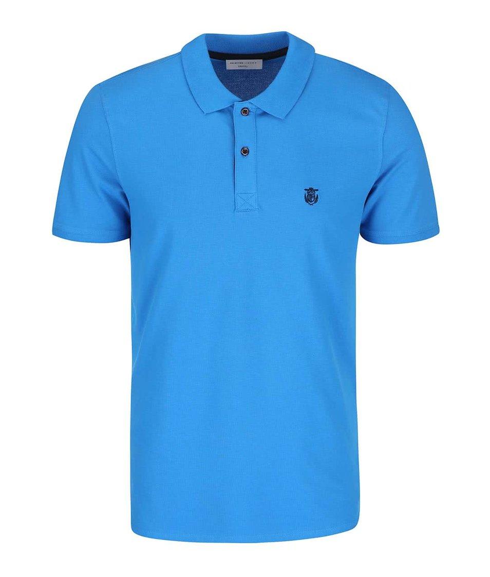 Modré polo triko Selected Daro