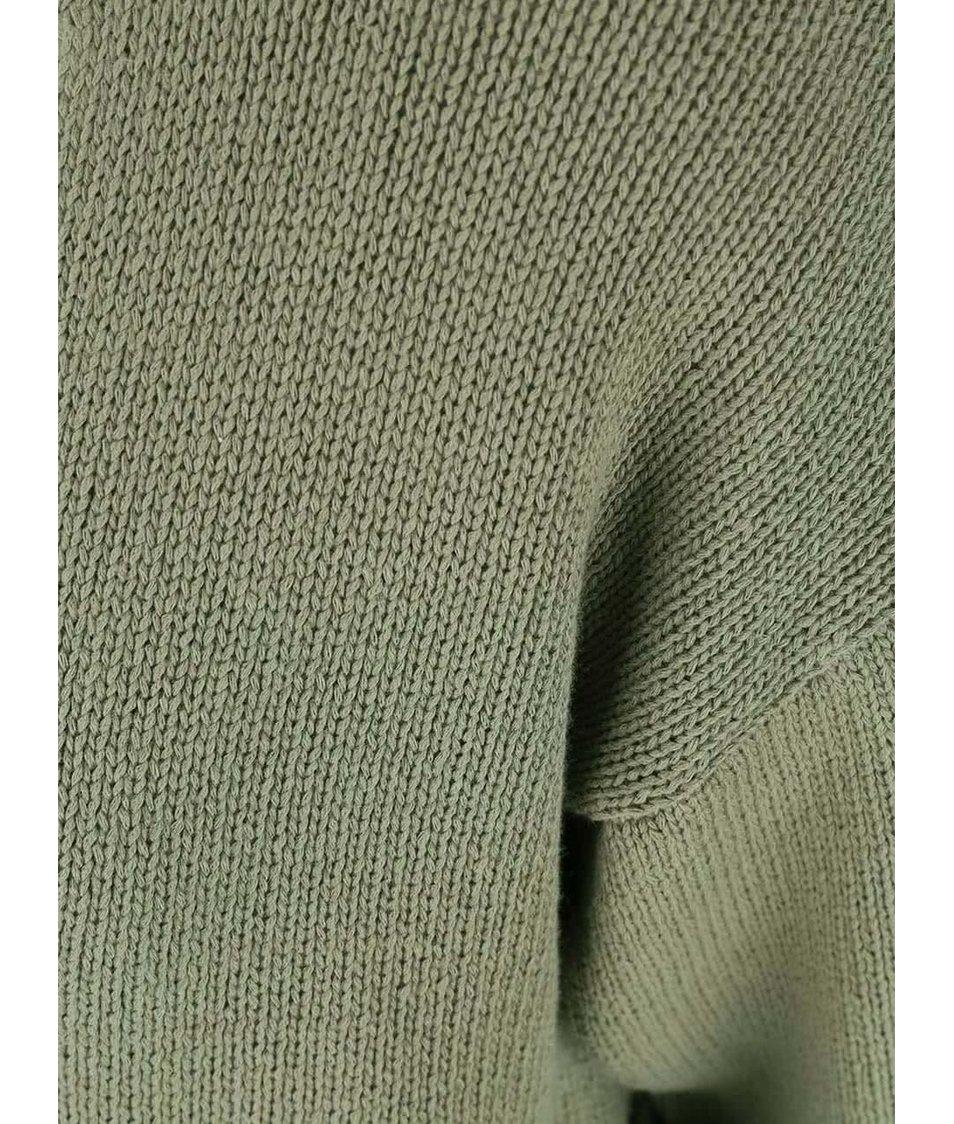 Khaki svetr s krátkým rukávem Noisy May Malin