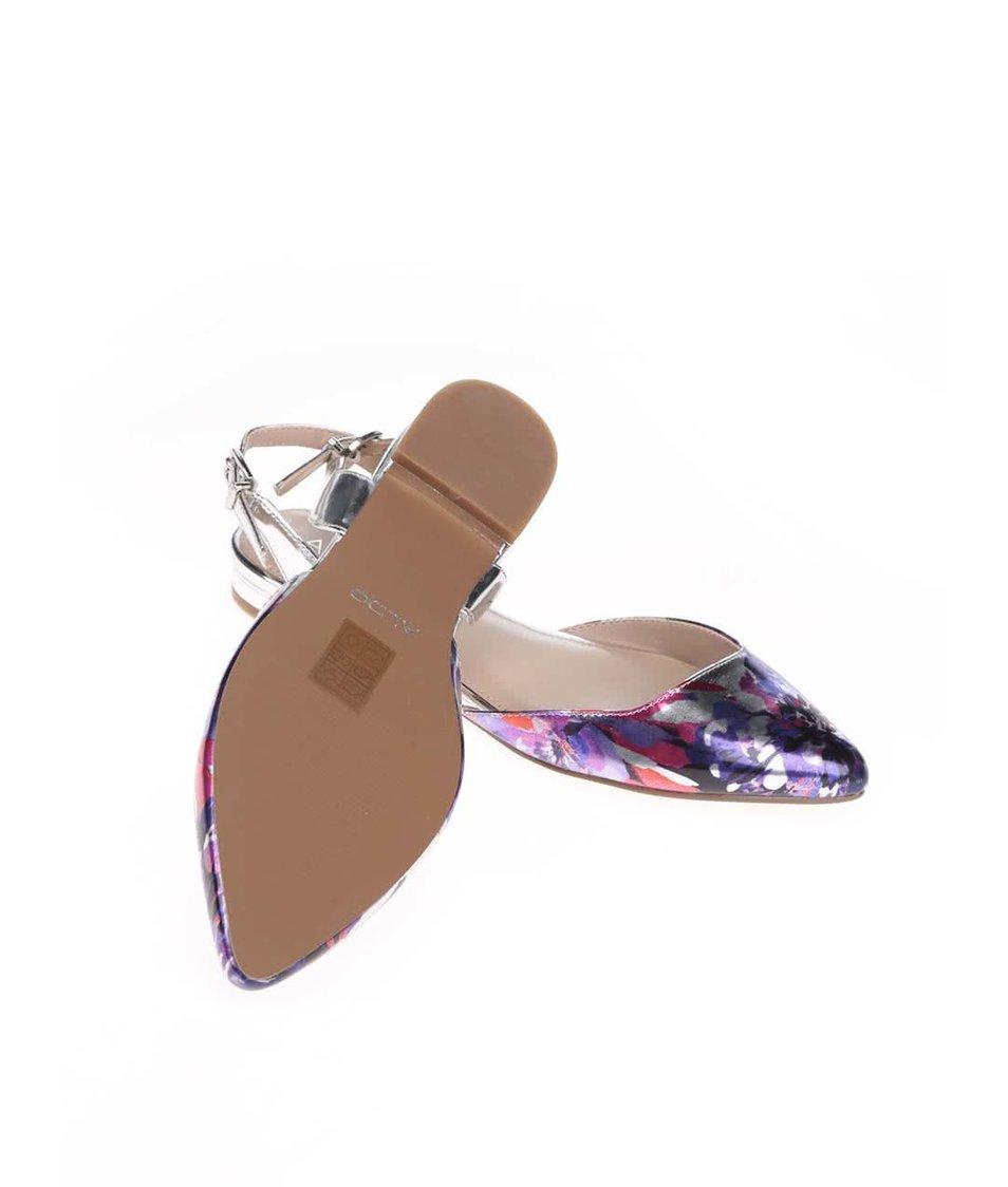 Květované sandálky ve stříbrné barvě ALDO Winiger
