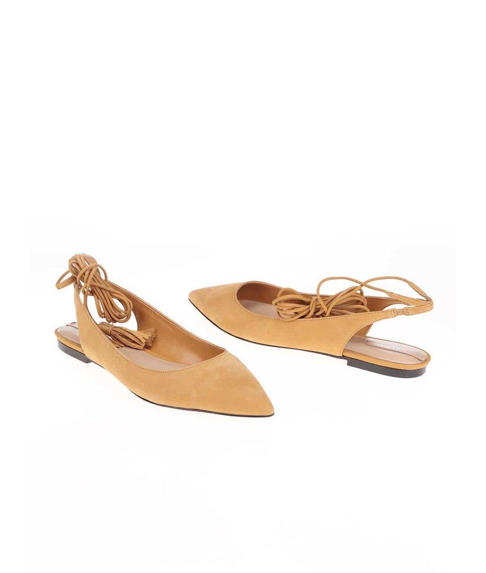 Hnědé kožené sandálky ALDO Kailang