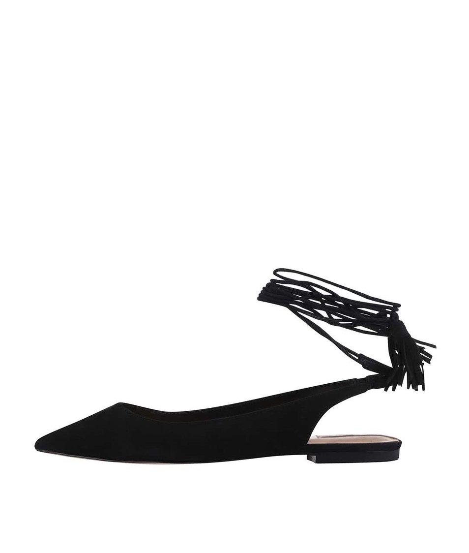Černé kožené sandálky ALDO Kailang