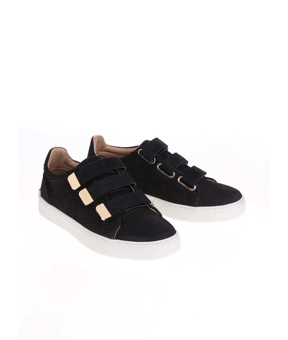 Černé dámské kožené tenisky ALDO Palse