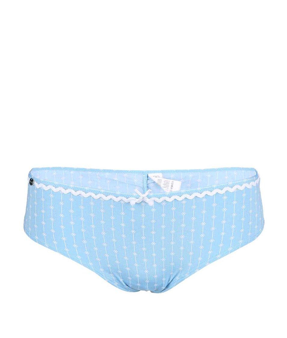 Modré kalhotky se vzorem drobných květů Lisca Wittily