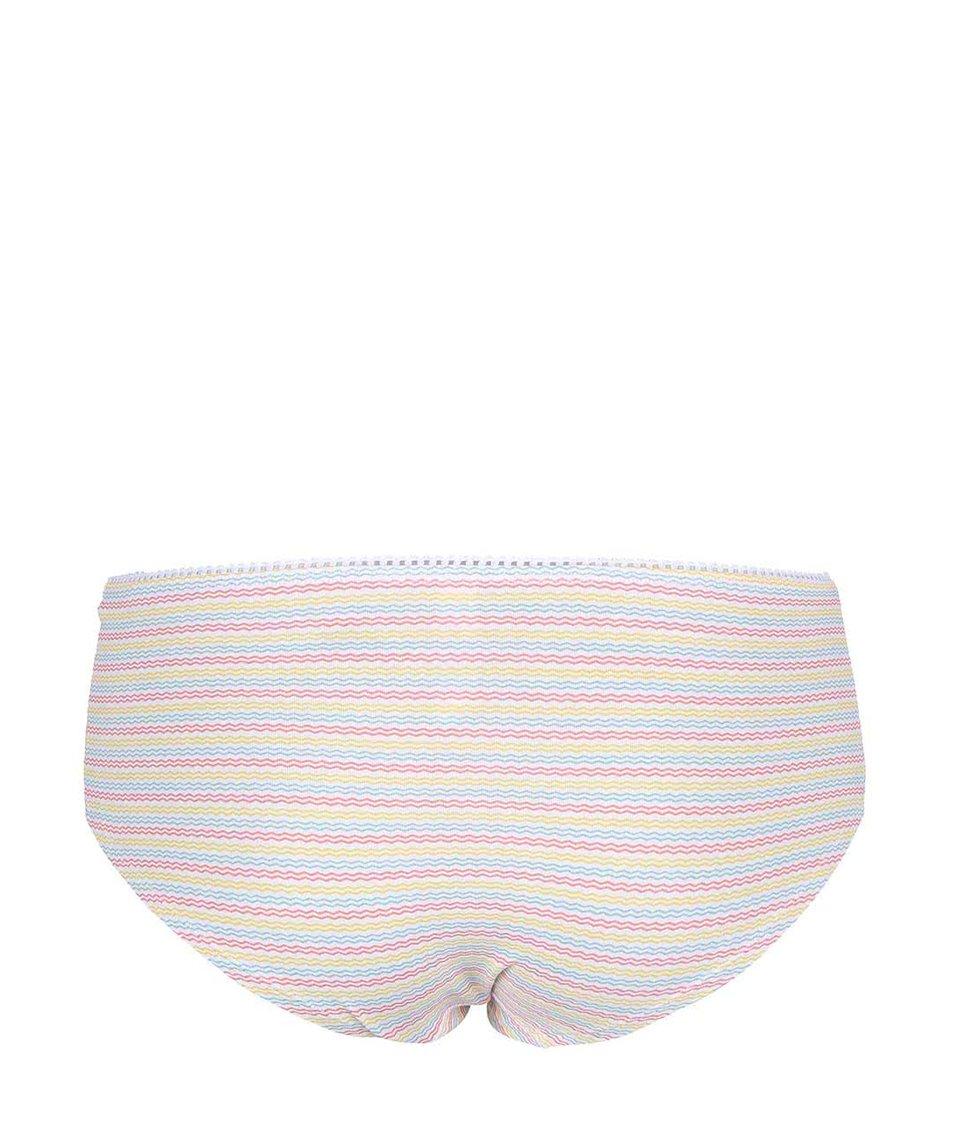 Bílé kalhotky s barevnými vlnkami Lisca Comfy
