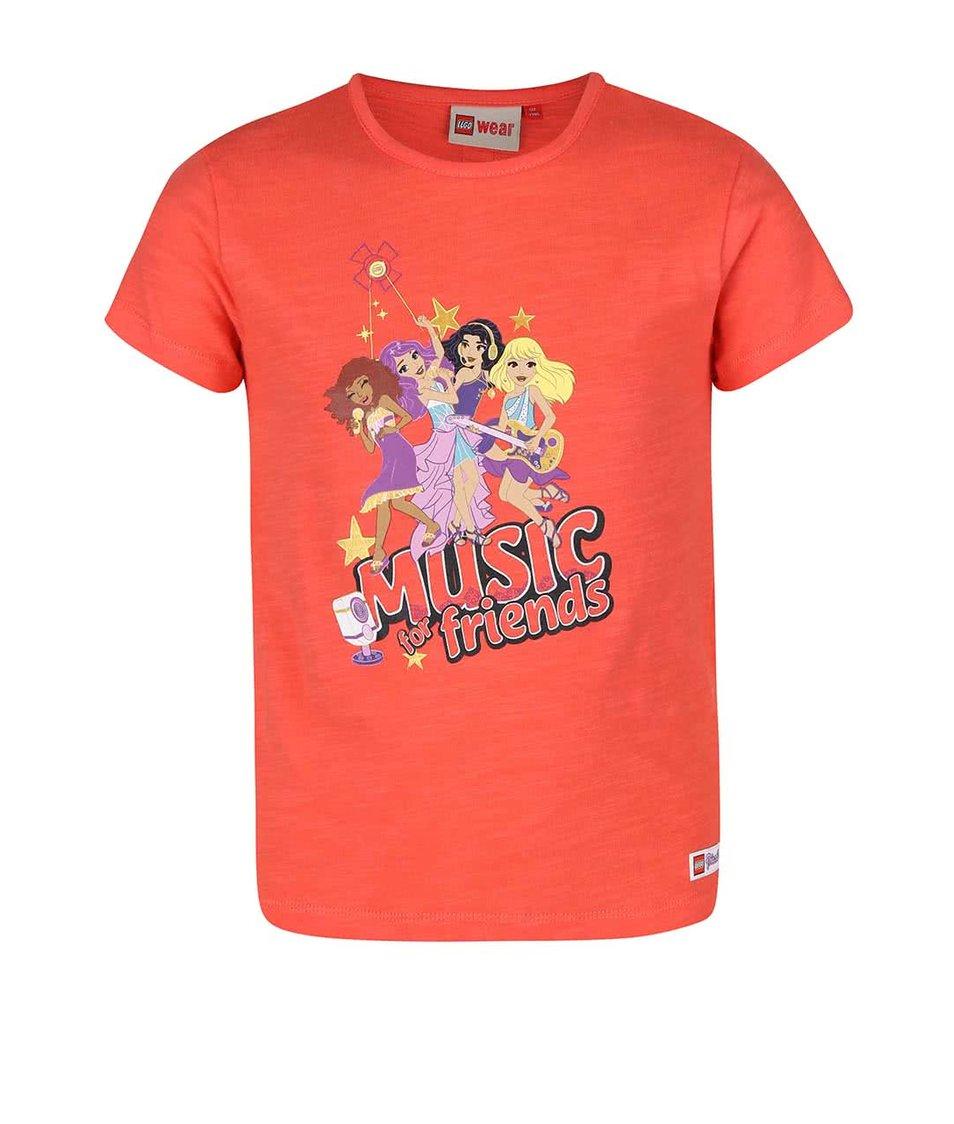 Oranžové holčičí tričko s krátkým rukávem LEGO Wear Tamara