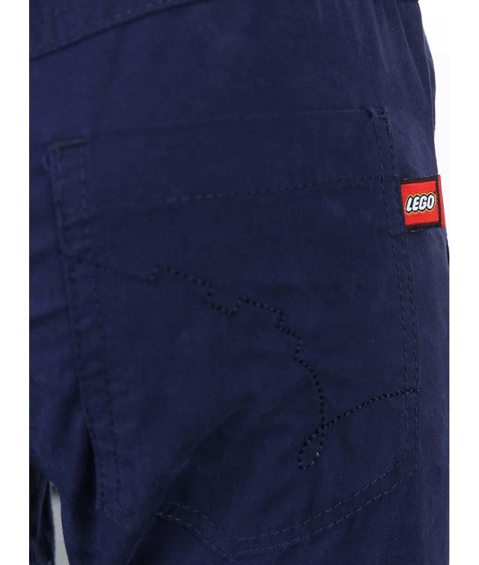 Tmavě modré dětské kalhoty LEGO Wear Build 504