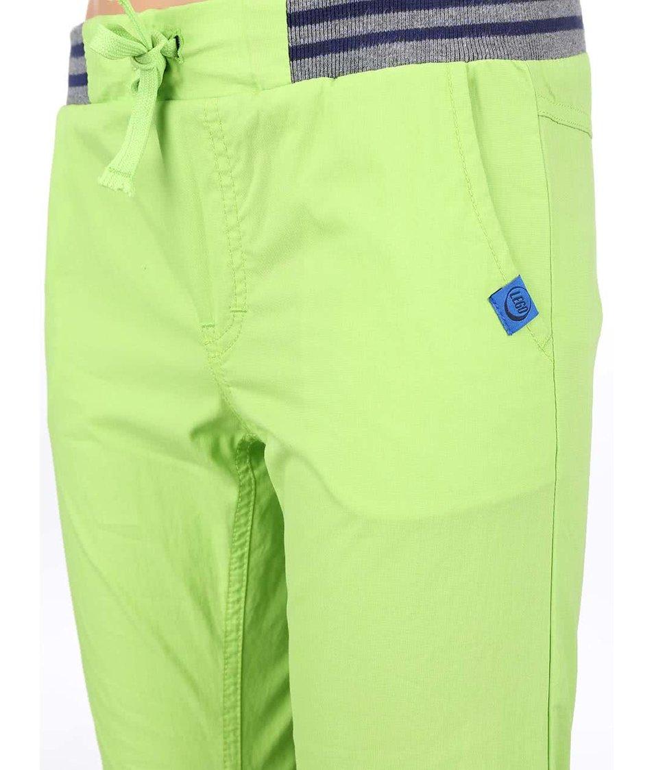 Zelené dětské kalhoty LEGO Wear Build 504