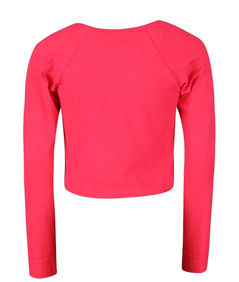 Růžový holčičí knoflíkový svetr LoveStation22 Robin
