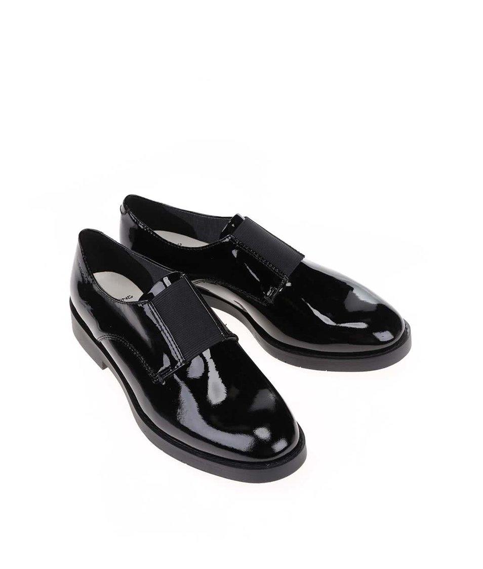 Černé kožené lesklé boty Vagabond Lejla