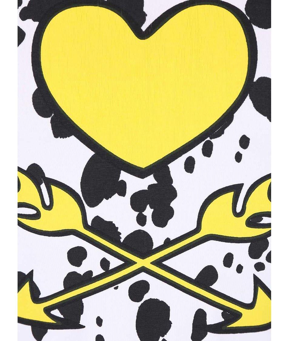 Černo-bílé vzorované holčičí šaty s potiskem LoveStation22 Pippa