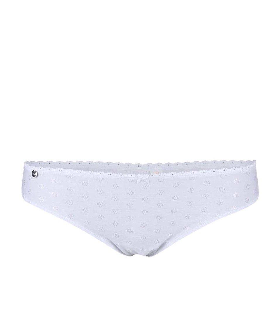 Bílé kalhotkys drobnými kvítky Lisca Adore