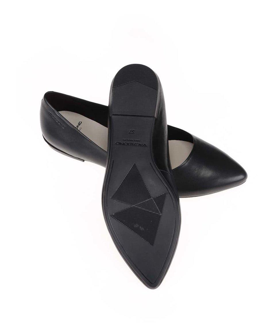 Černé kožené balerínky Vagabond Aya