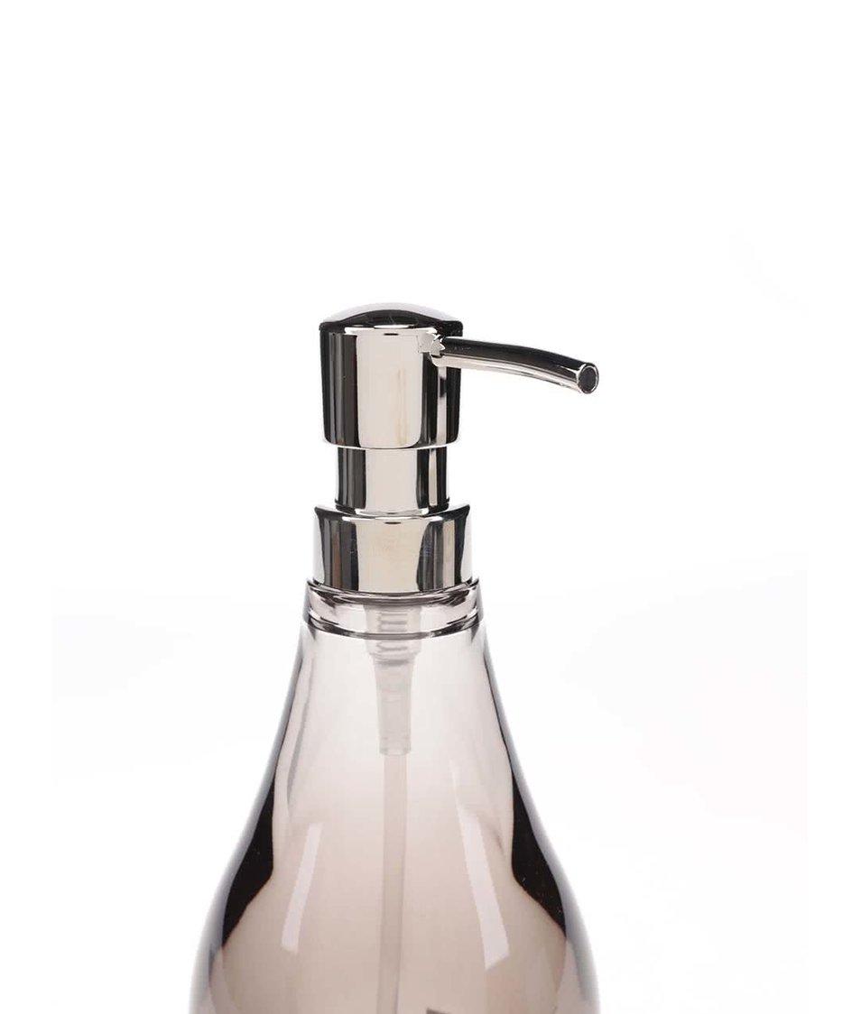 Průhledný dávkovač na mýdlo v kouřové barvě Umbra Droplet