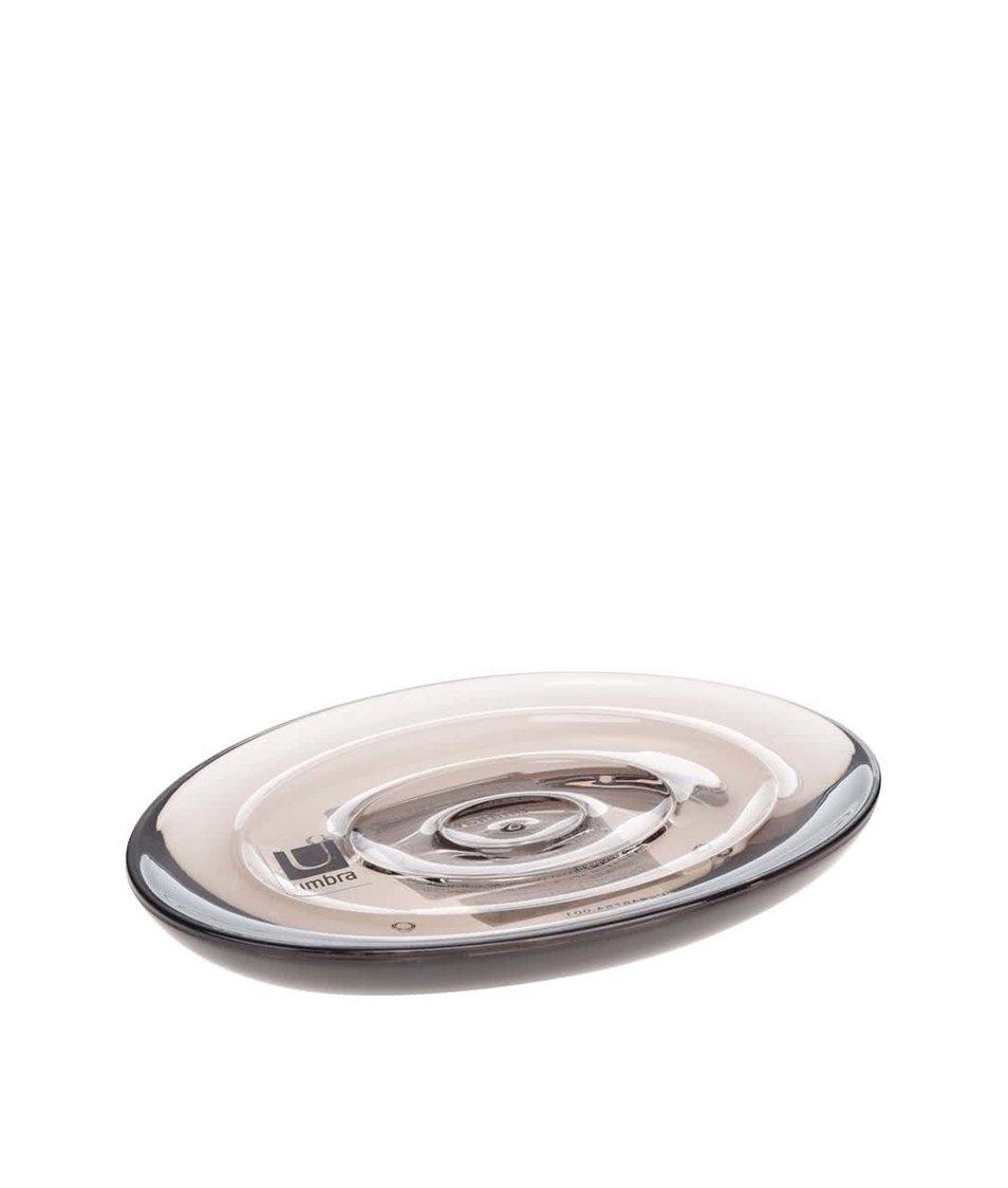 Černá podložka pod mýdlo Umbra Droplet