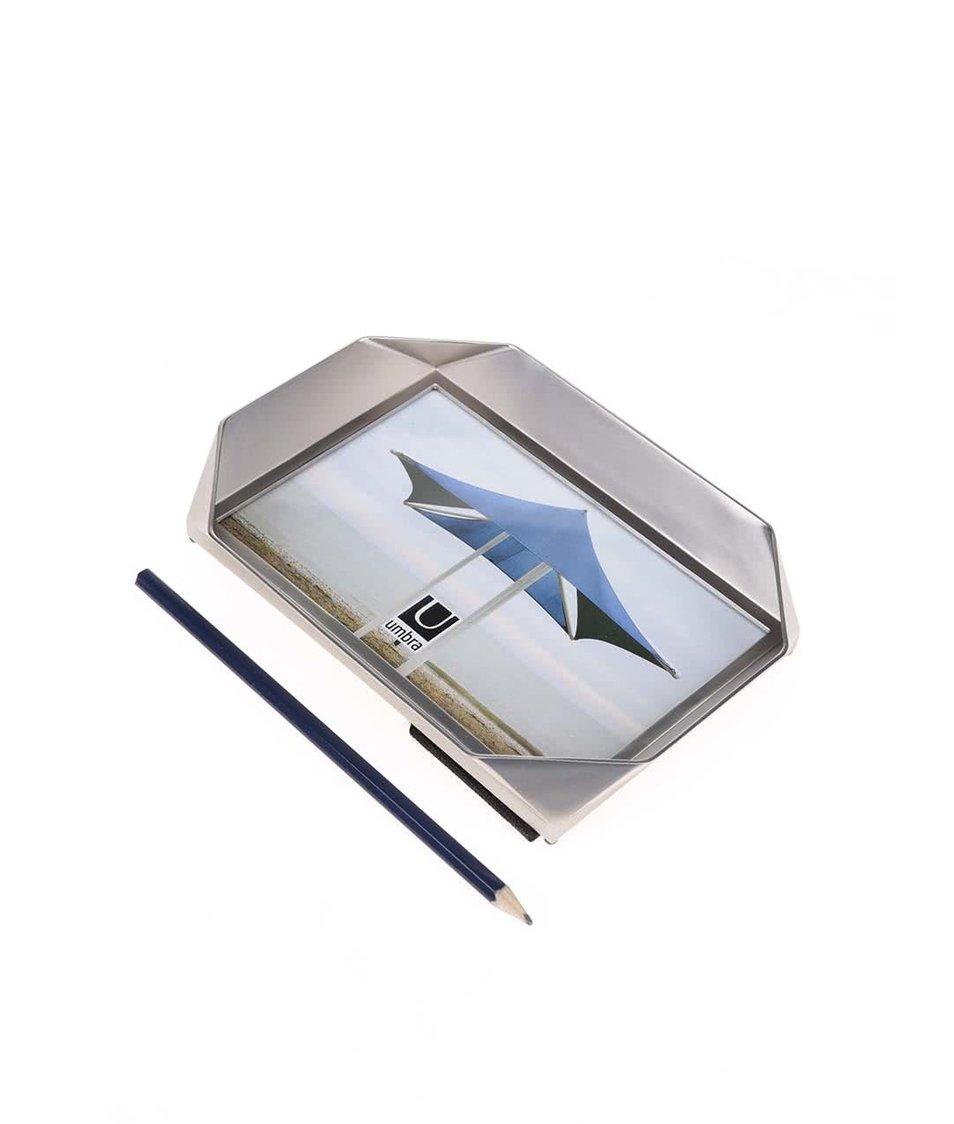 Foto rámeček ve stříbrné barvě Umbra Nickel