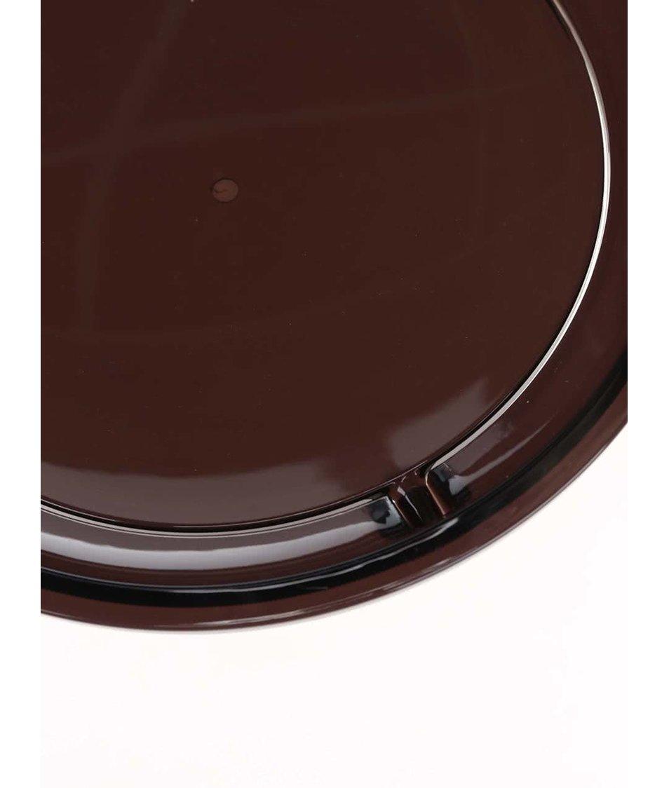 Černý odpadkový koš Umbra Droplet