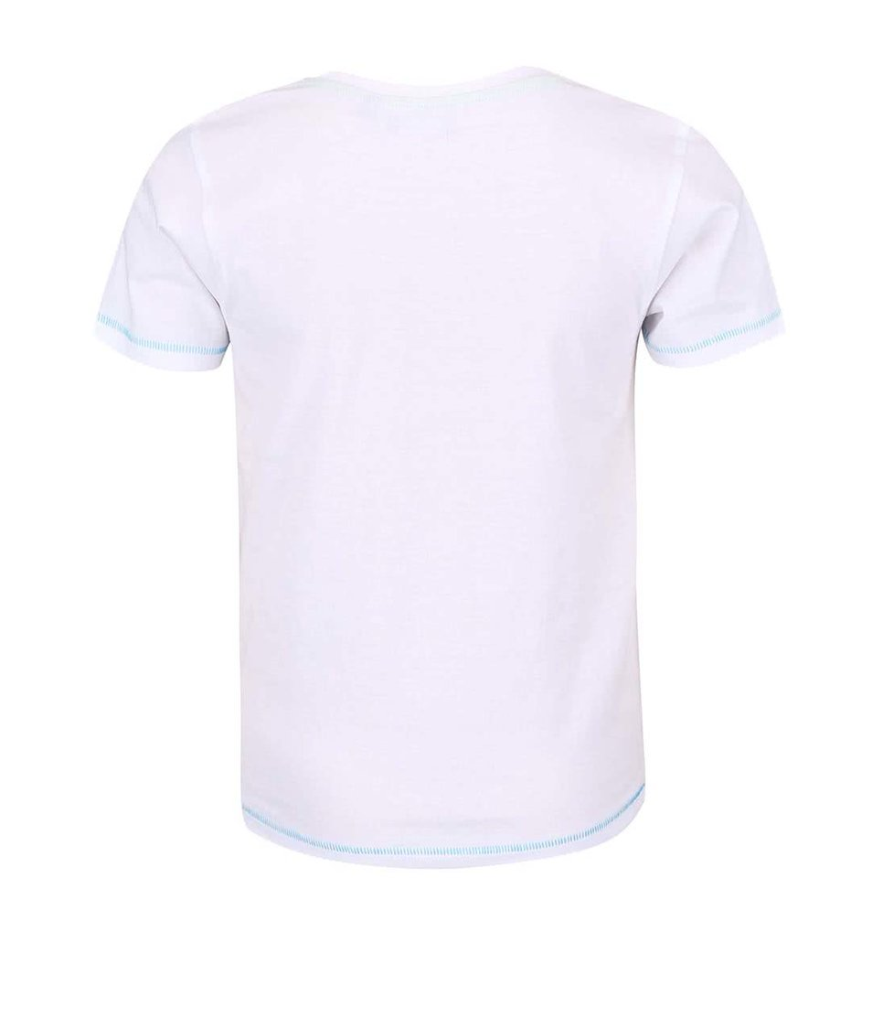 Bílé klučičí triko s potiskem Blue Seven