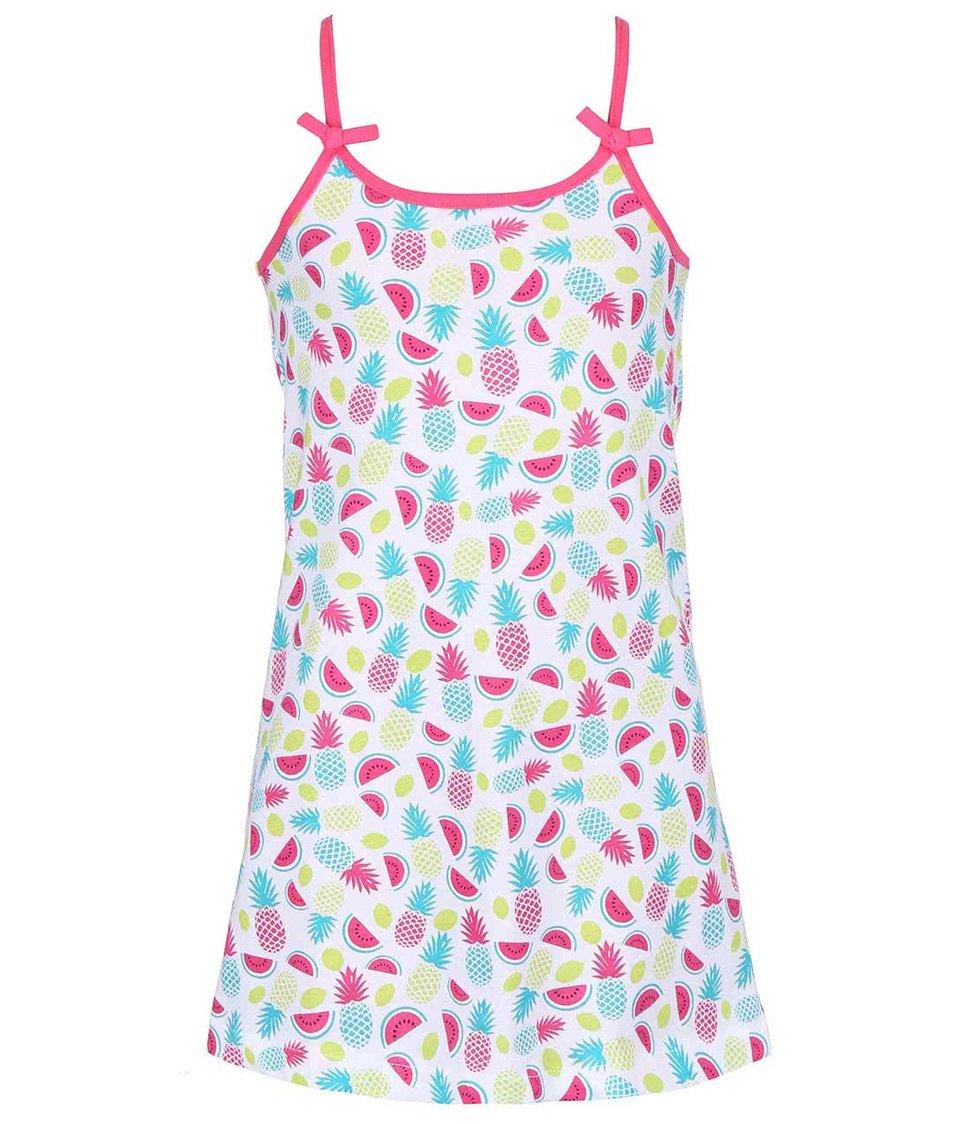 Bílé holčičí šaty s potiskem ovoce Blue Seven