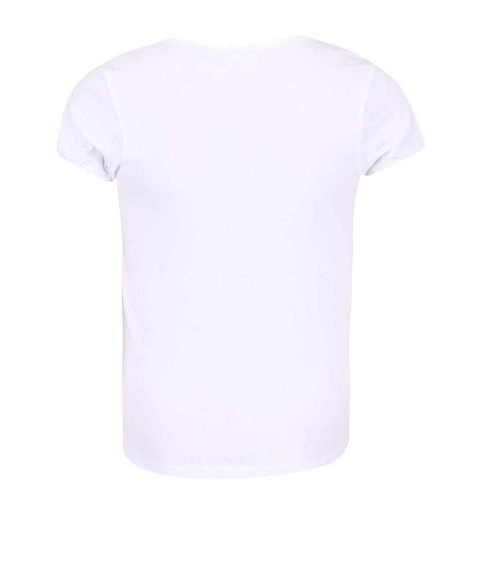 Bílé holčičí tričko s barevným potiskem motýlů Blue Seven