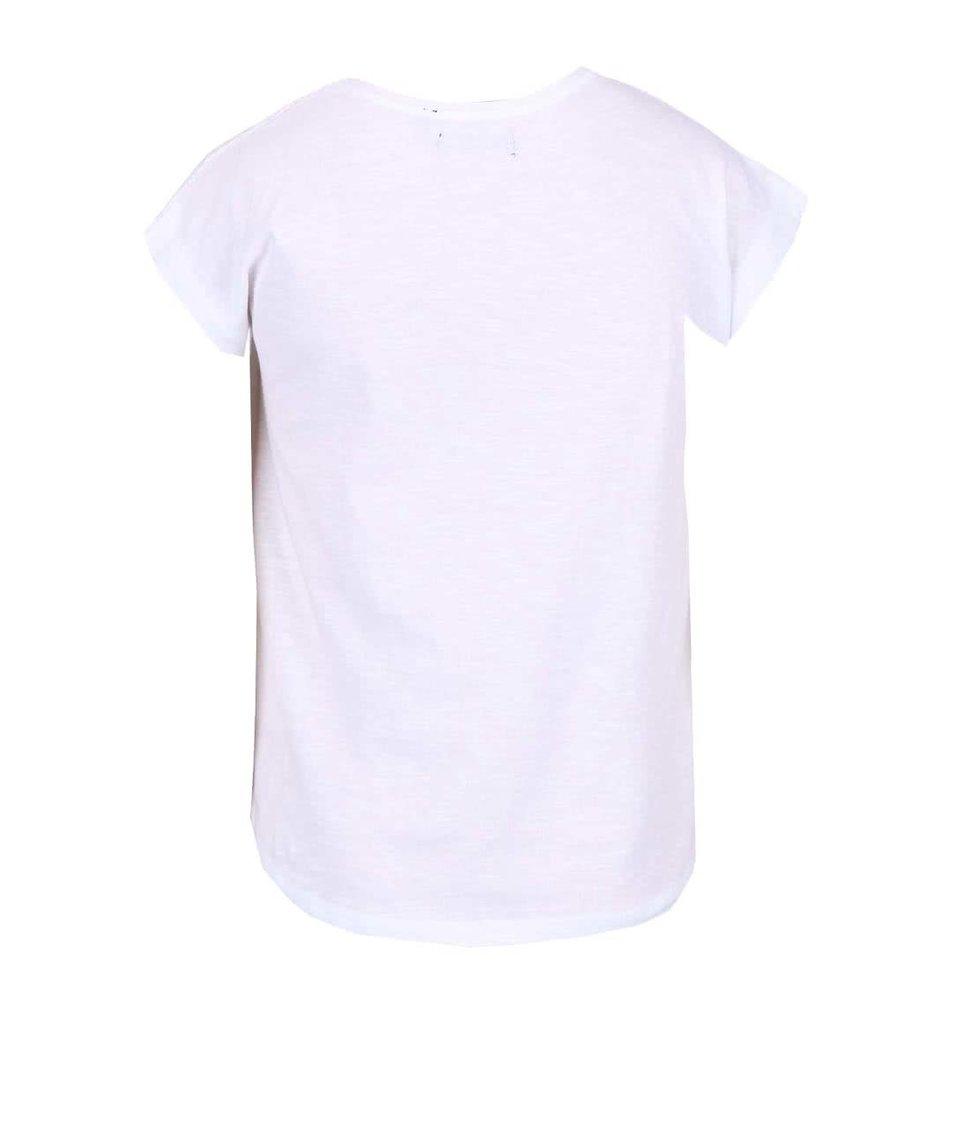 Bílé holčičí tričko s romantickým motivem Blue Seven