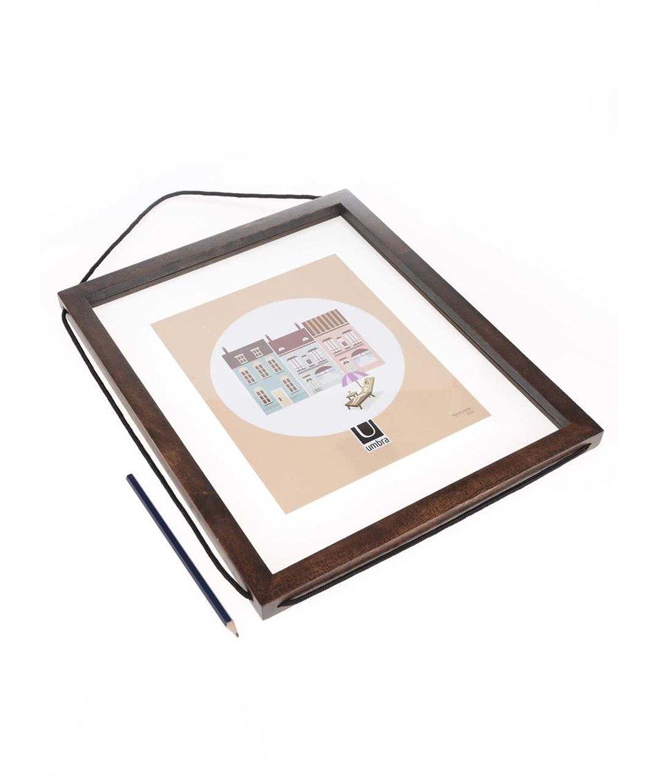 Hnědý nástěnný rám na fotky Umbra Corda