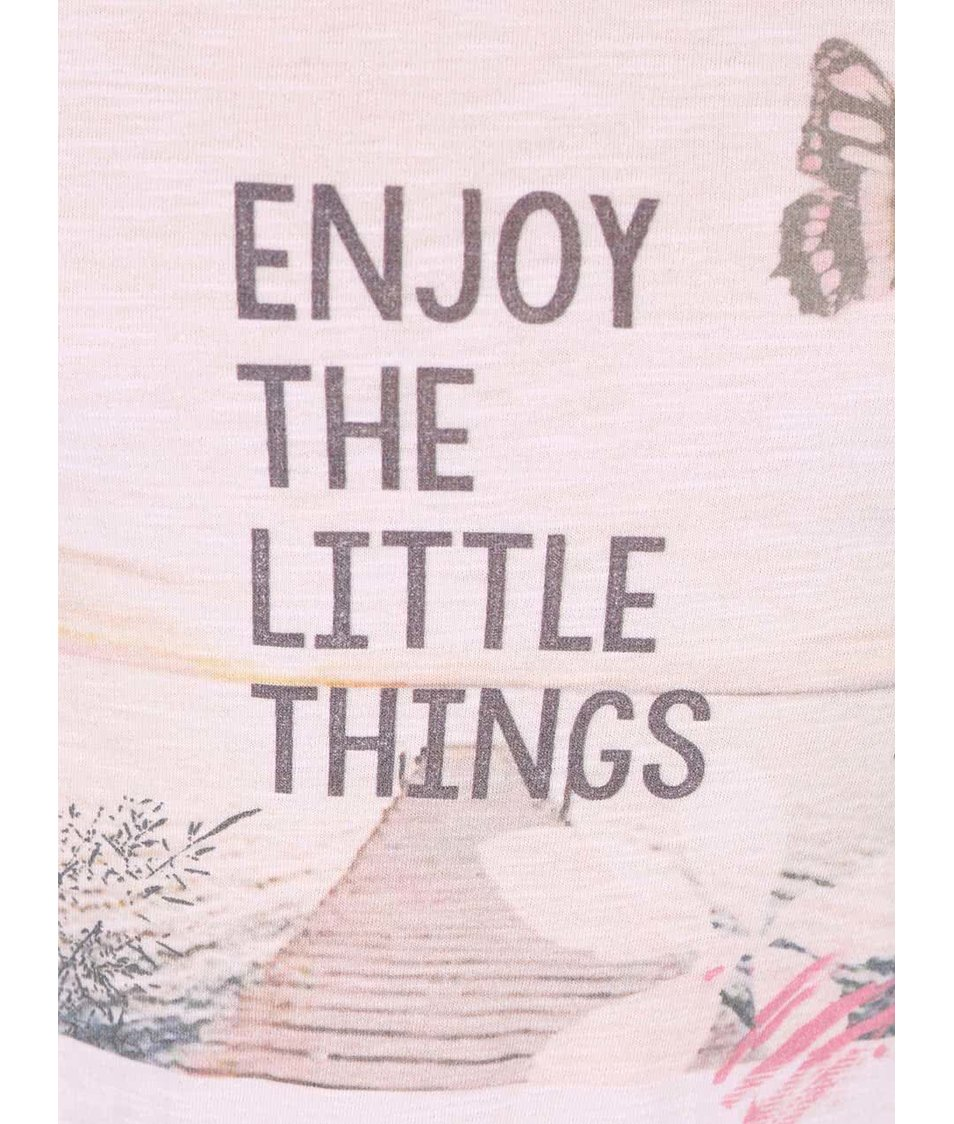 Růžové holčičí tričko Blue Seven Enjoy The Little Things