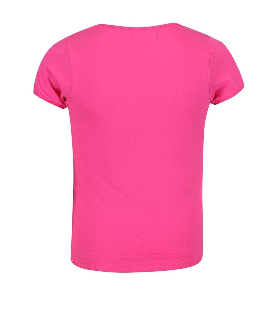 Růžové holčičí tričko s potiskem motýlů Blue Seven