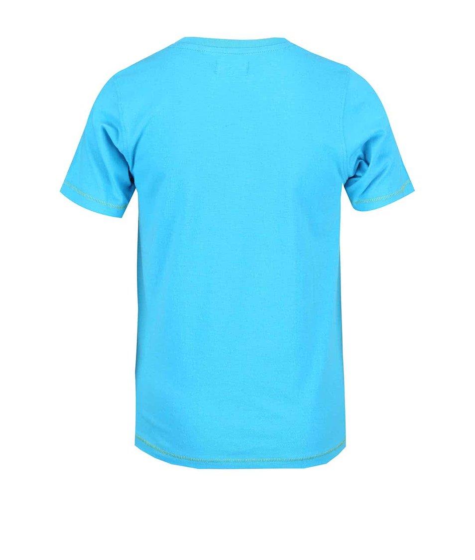 Tyrkysové klučičí triko s potiskem Blue Seven