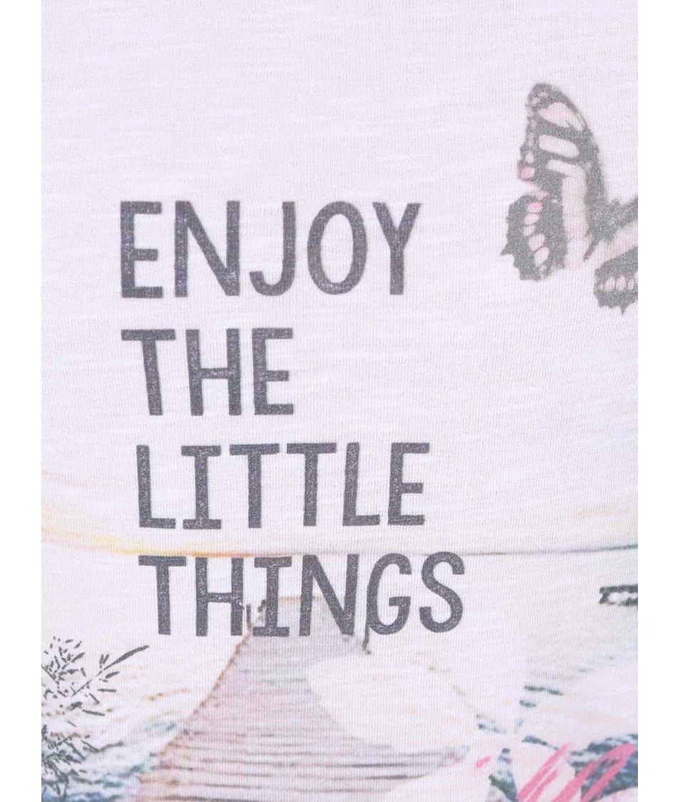 Bílé holčičí tričko Blue Seven Enjoy The Little Things
