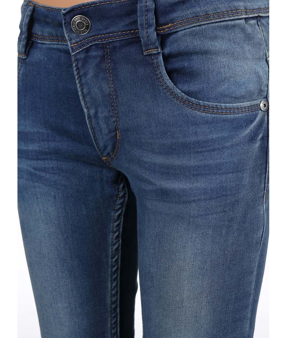 Modré klučičí džíny s ošoupaným efektem Blue Seven