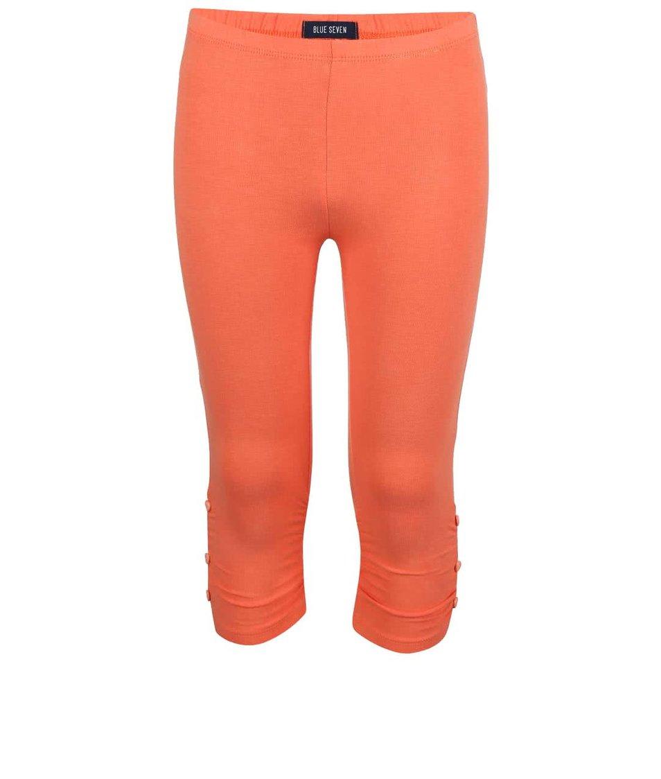 Oranžové holčičí legíny Blue Seven