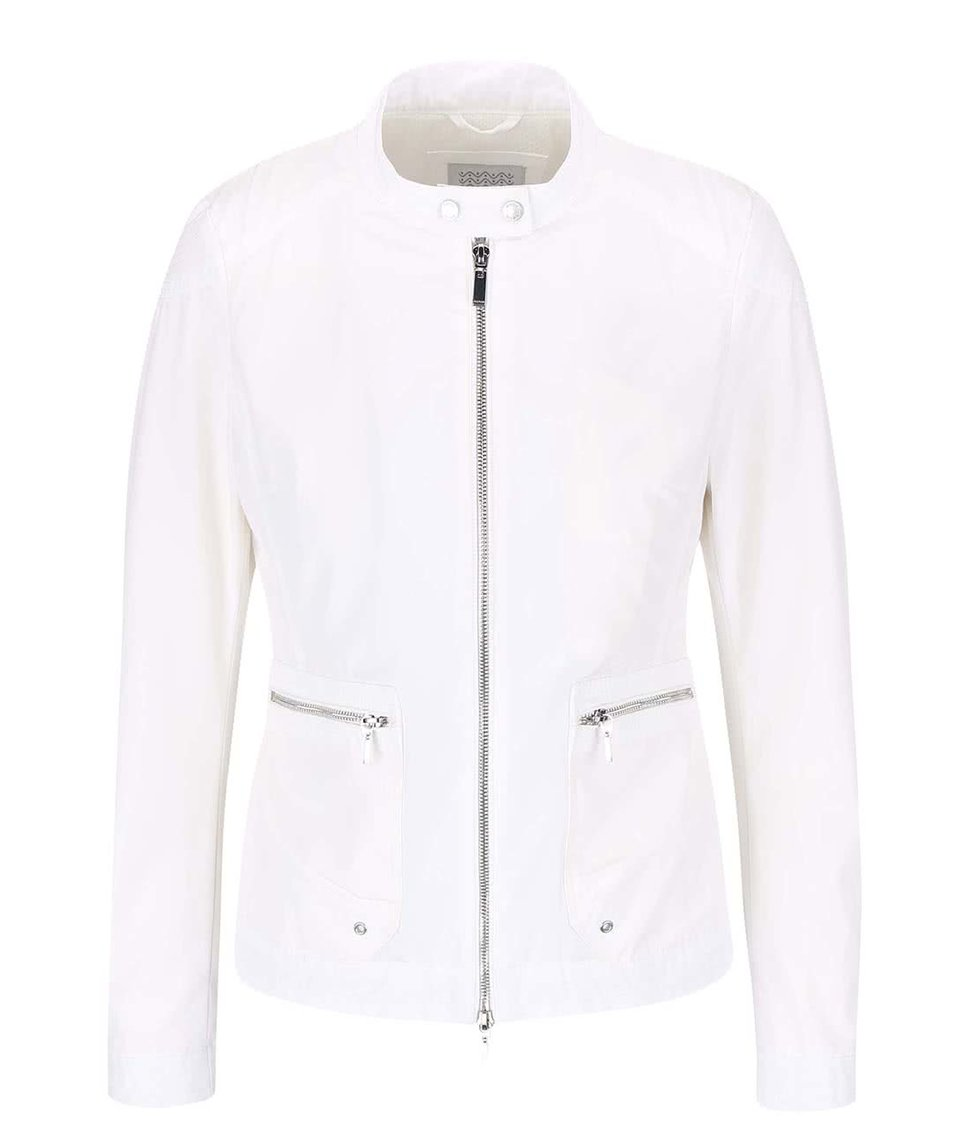 Bílá voděodolná dámská bunda Geox