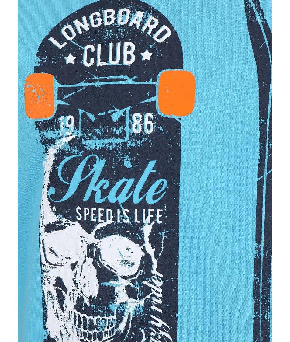 Tyrkysové klučičí tričko s longboardem name it Nitfiggo