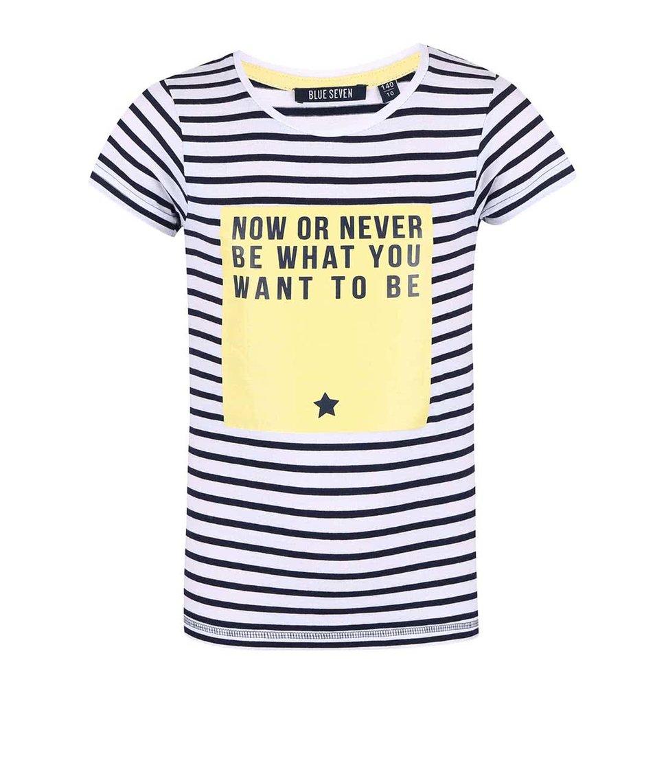 Bílé holčičí pruhované tričko Blue Seven