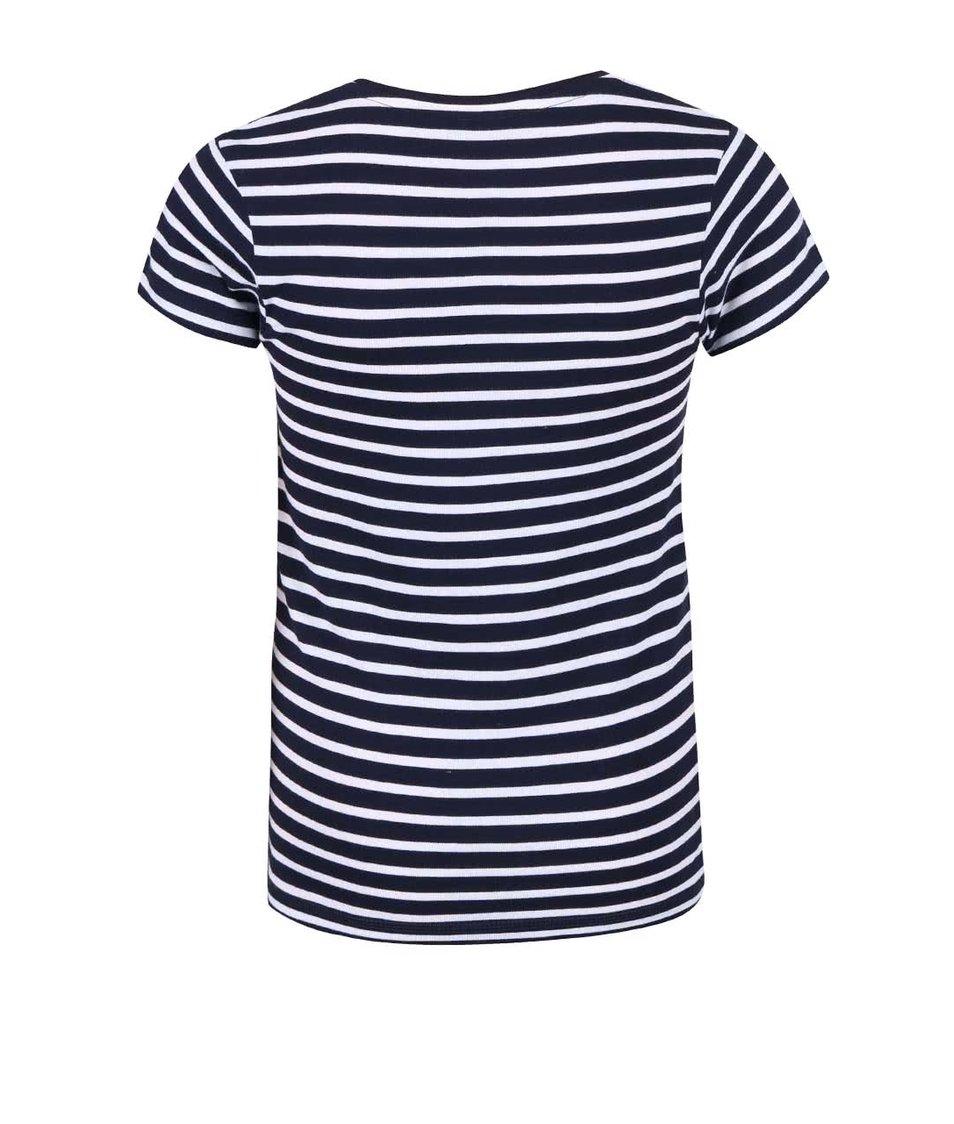 Tmavě modré holčičí pruhované tričko Blue Seven