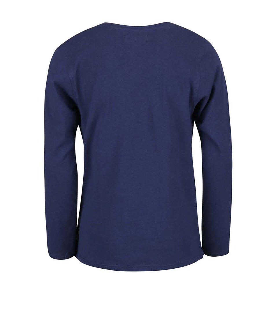 Tmavě modré klučičí tričko s dlouhým rukávem Blue Seven