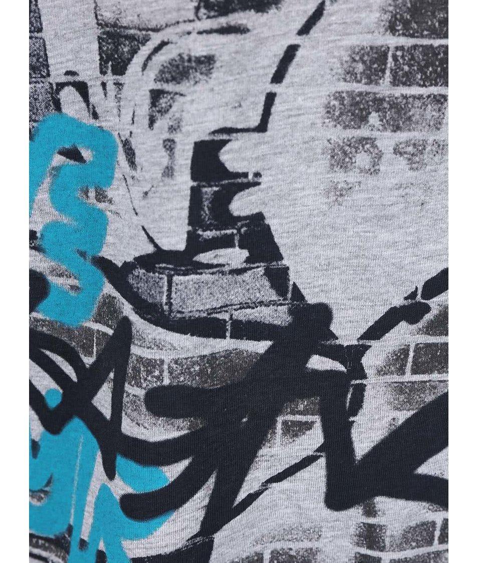 Šedé klučičí tričko s dlouhým rukávem Blue Seven