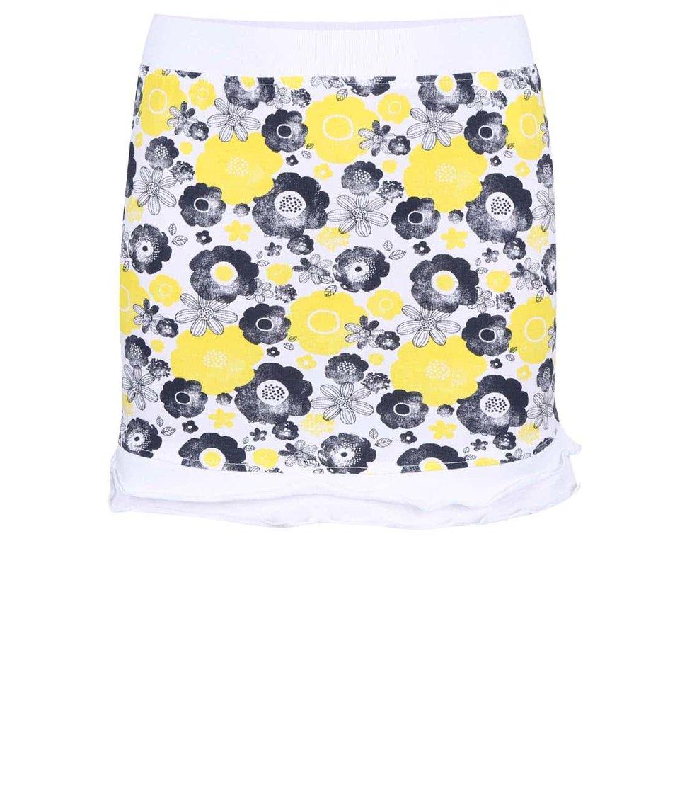 Žlutá holčičí sukně se vzorem Blue Seven