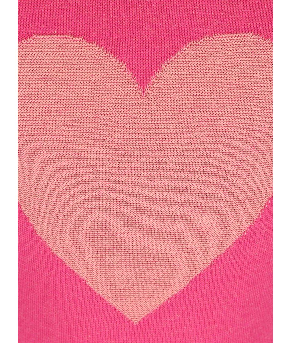 Růžový holčičí svetr se srdcem Blue Seven